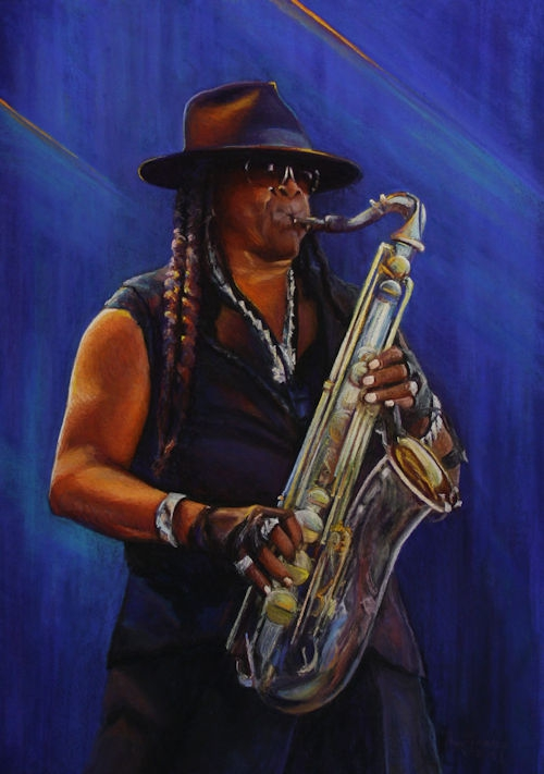 Portret Clarence Clemons