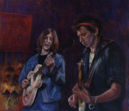 Portret John Lennon-Keith Richards